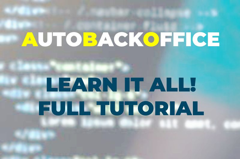 tutorial auto back office video